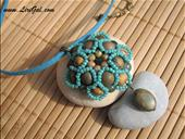 Pretty Flower Beaded Pendant