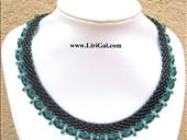 Elizabeth SuperDuo Beadwork  Necklace